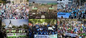 各国のデモ