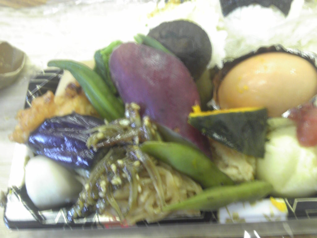 竹皮弁当でほっと一息。