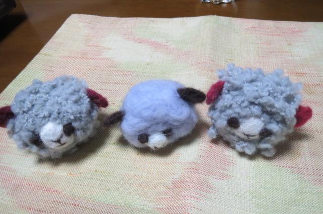 フエルト羊何匹作ったか?