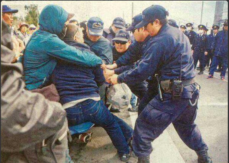 辺野古・山城さん、拘束と釈放の後の会見