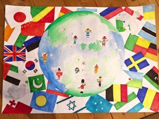 孫の宿題「平和ポスター」