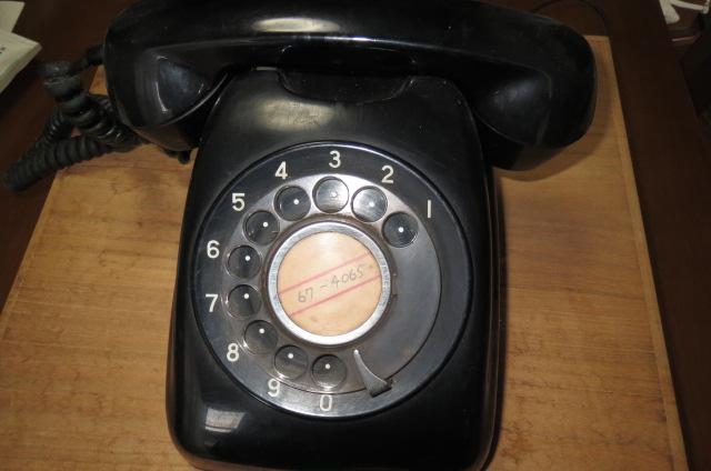 古い電話機と思い出深き秋・・。