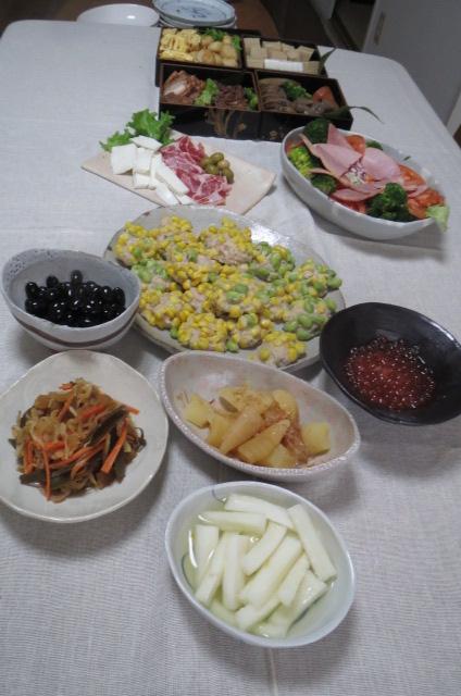 新年の集まり・10人分の料理