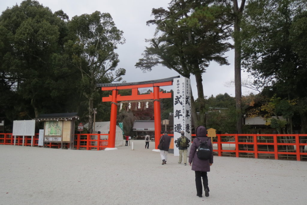 短歌会のメンバーと上賀茂神社へ・・・