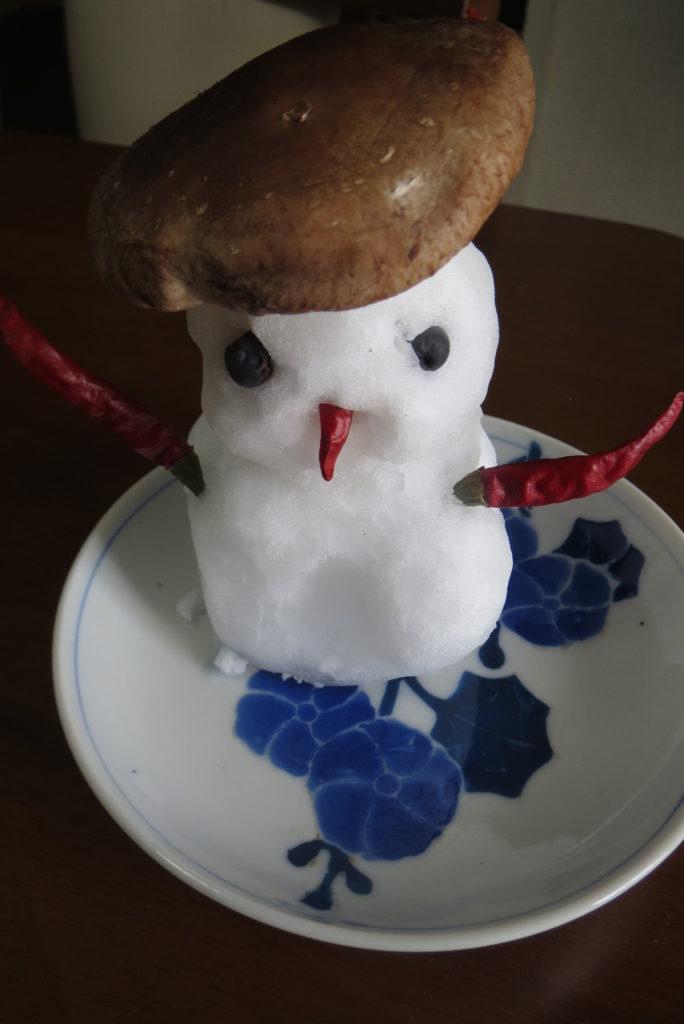 初雪でうれしくなって・・!