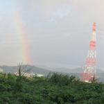 楽しみ散歩で綺麗な虹!